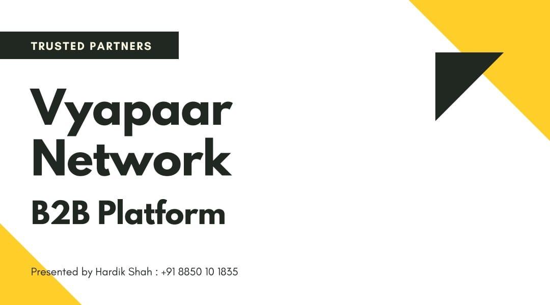vyapaar network is a B2B portal
